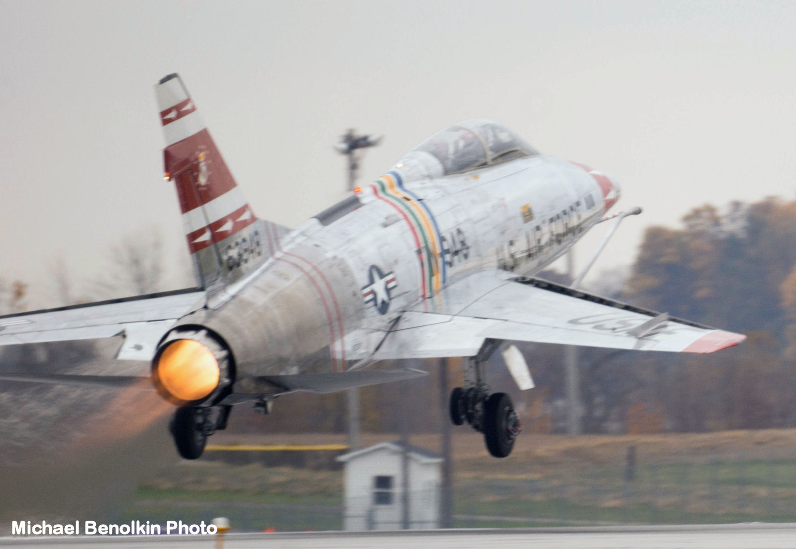F-100F Super Sabre Autumn 2015 Flight Image 13