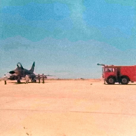 F-100D 355 TFS/31 TFW, Fire Department Observes Hot Brakes