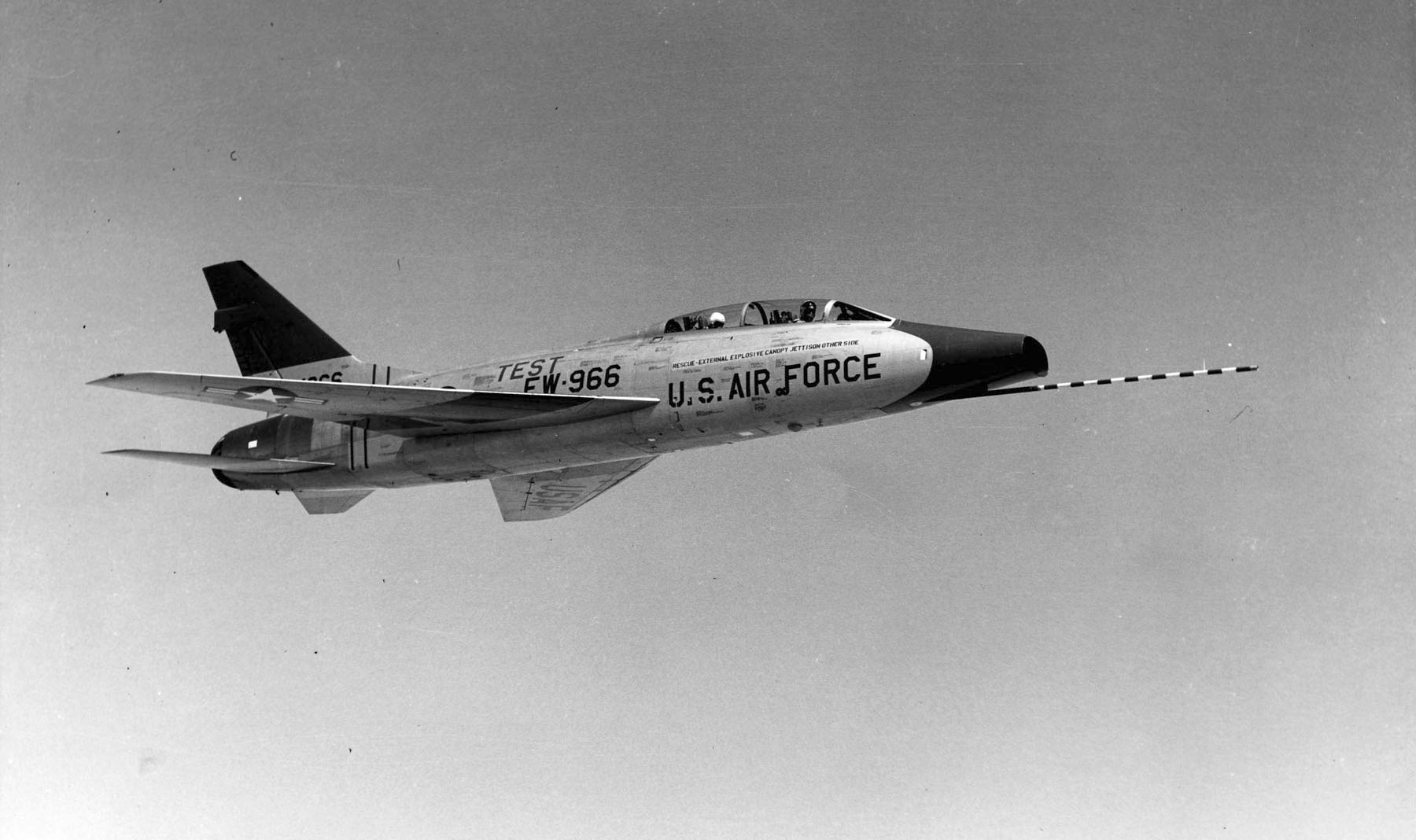 North American F 100 Super Sabres Of The Air Force Flight Test